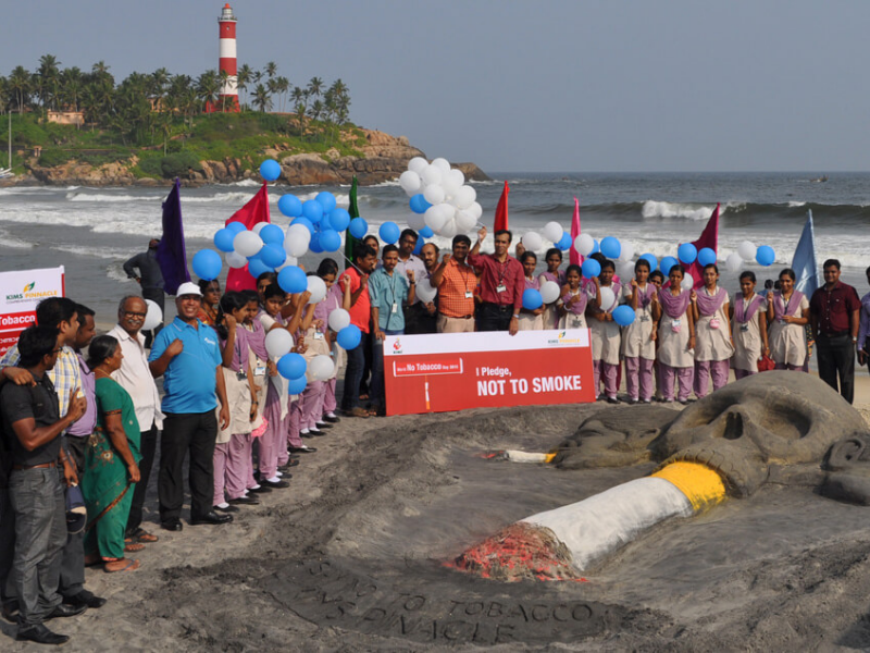 World No Tobacco Day 2015 observed at Kovalam Beach