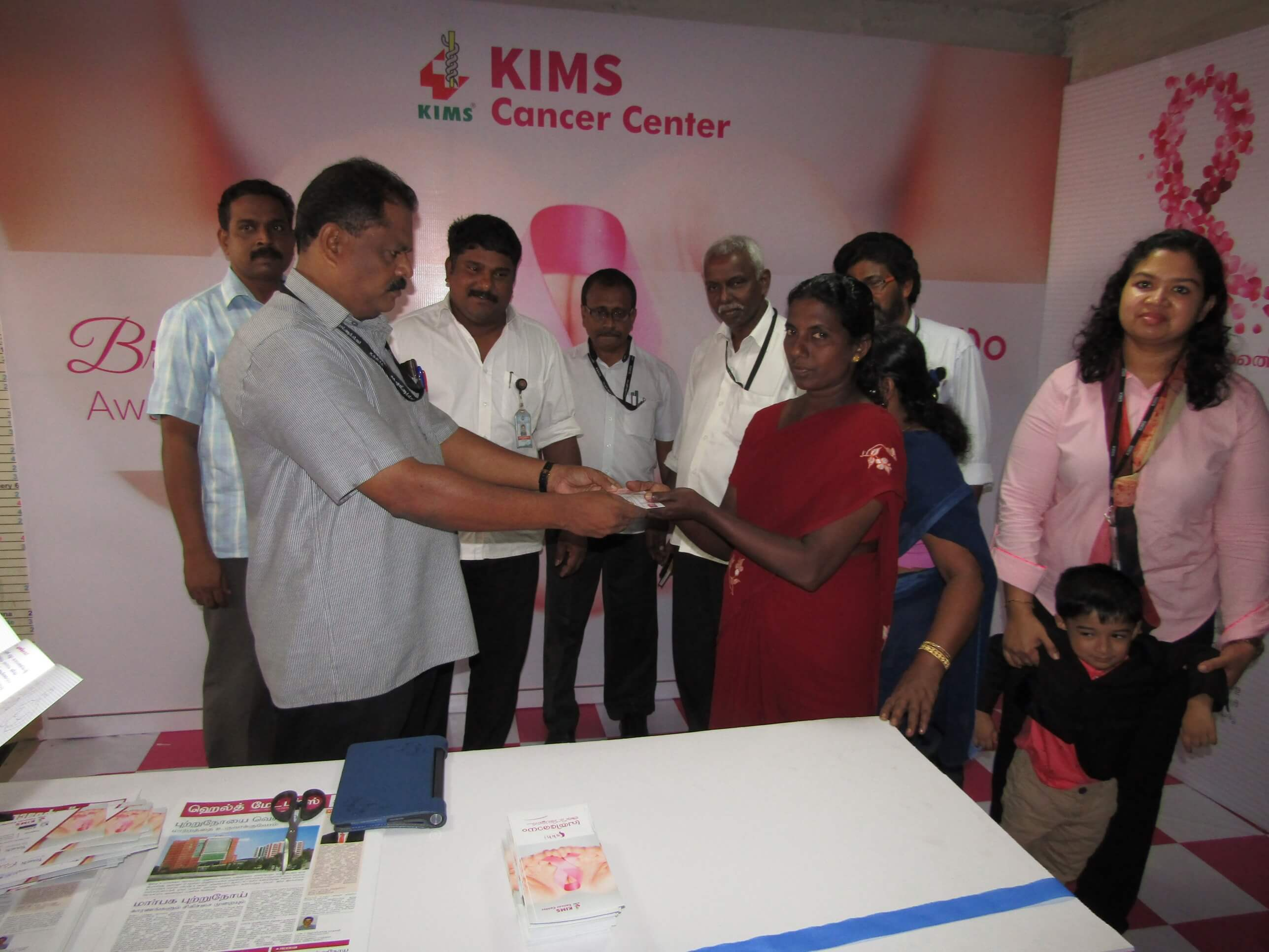 Breast cancer Awareness Campaign at KSRTC Central Bus Station