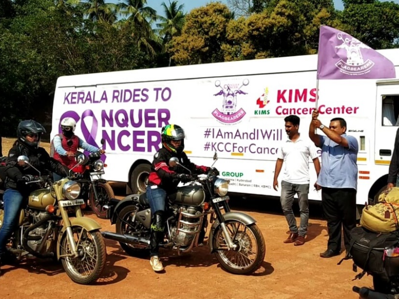 KERALA RIDES TO CONQUER CANCER – an initiative from KIMS Cancer Center